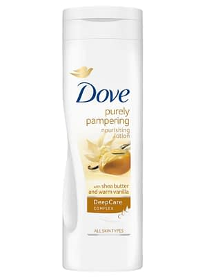 Dove Purely Pampering Shea Butter and Warm Vanilla Body Lotion Neyena Beauty Cosmetics dove