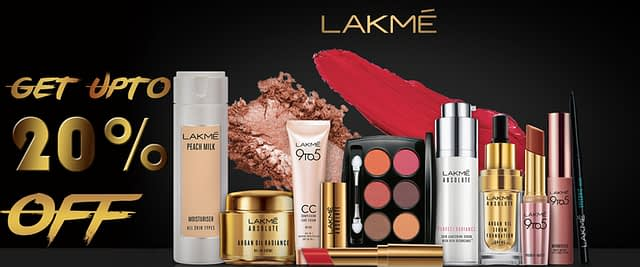 Get up 20% Face care discount on brand Lakmé in Neyena Beauty & Cosmetics discount coupon offer deals
