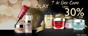 Get up 30% Face care discount on brand Olay Care in Neyena Beauty & Cosmetics discount coupon offer deals