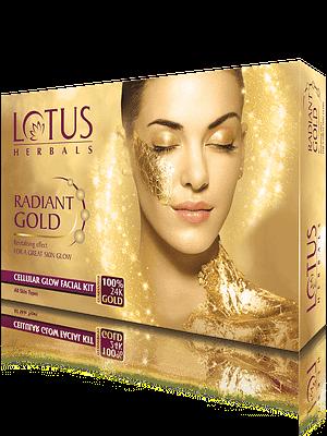 Lotus Herbals Radiant Gold Cellular Glow Facial Kit