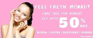 FREE FRESH MONDAY Cosmetics Sale on Neyene Beauty & Cosmetics discount coupon offer deals