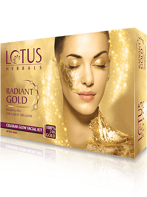 Lotus Herbals Radiant Gold Cellular Glow Facial Kit