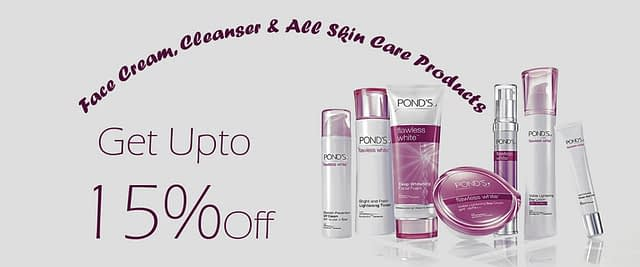 Get up 25% Face care discount on brand Ponds in Neyena Beauty & Cosmetics discount coupon offer deals